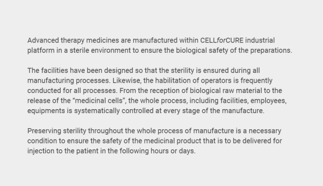 Improving the safety of cell therapy medicinal products