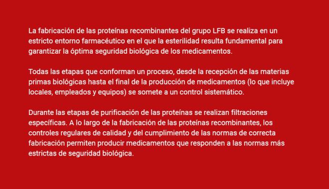 Seguridad de medicamentos recombinantes